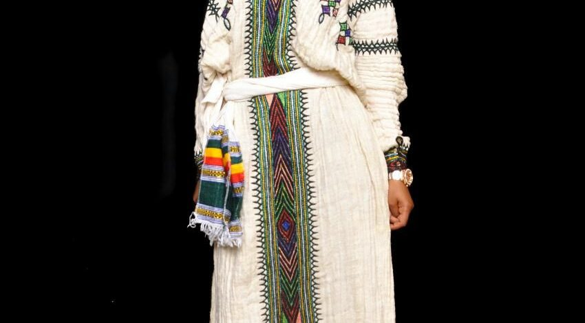 Traditional Gondar Style Hand Embroidery.